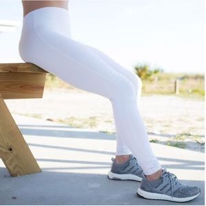 Exosleeve White Moto Leggings size XS
